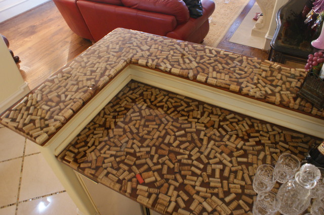 Residential wine cork bar traditional dallas by for Wine cork bar top