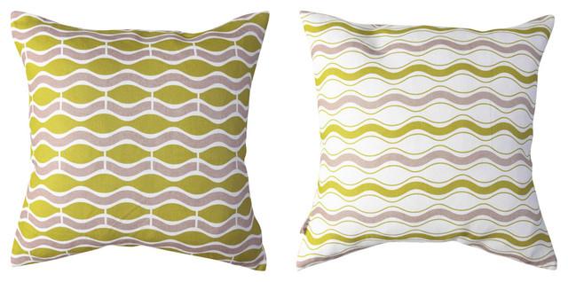 Wave Pillow - Wasabi tropical-decorative-pillows