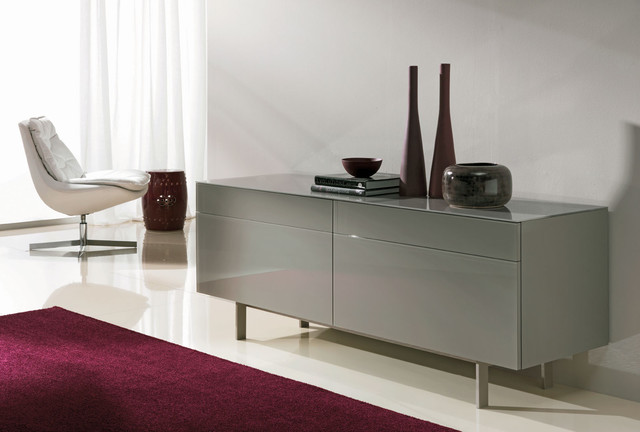 Aly Glass or Wooden Storage contemporary-buffets-and-sideboards