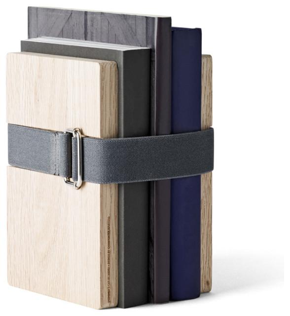 Book Binder, Oak, Small contemporary-home-decor