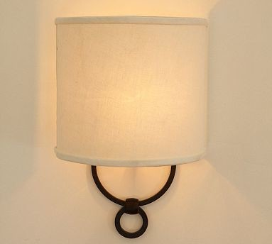 Wall Sconces Pottery Barn : Francis Sconce, Rustic Black finish - Traditional - Wall Sconces - by Pottery Barn