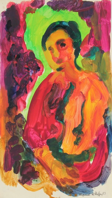 1950-60s Original Bay Area Figurative Vivid Figure by Alysanne McGaffey contemporary-originals-and-limited-editions