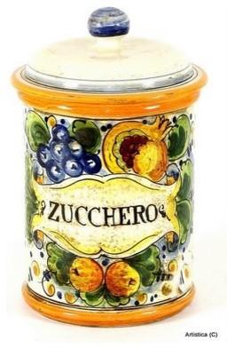 Tuscania: Tuscania Canister 'Zucchero' (Sugar) mediterranean-decorative-accents