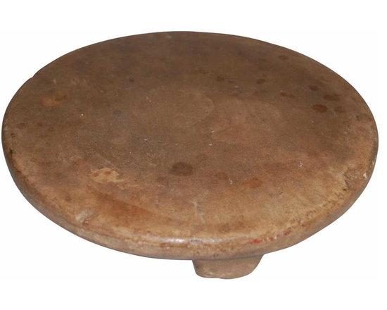 "Stone Trivet - Great European primitive stone trivet. Measures 12"" in diameter and 2"" tall."