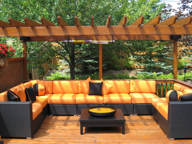 Patio furniture deep seating contemporary patio for Deep seating outdoor furniture