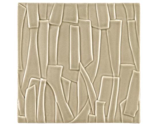 """Ceramic - ANN SACKS Chinois by Robert Kuo 9"""" x 9"""" kuai ceramic field in mist green"""