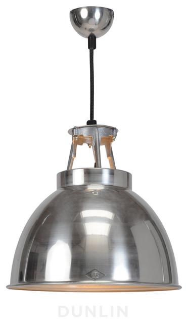 Original BTC Titan Natural Polished Aluminium contemporary-pendant-lighting