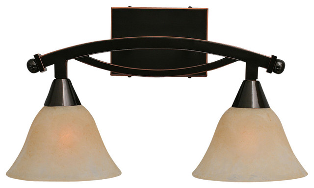 Bathroom Vanity Lights Black Finish : Toltec 172-Bc-503 Bow Bath Bar Shown in Black Copper Finish - Contemporary - Bathroom Lighting ...