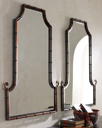Bamboo Curl Mirror Asian Wall Mirrors By Horchow