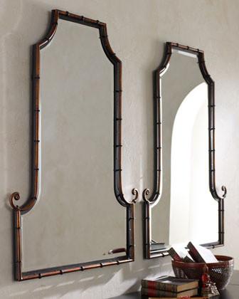 Bamboo Curl Mirror asian-mirrors
