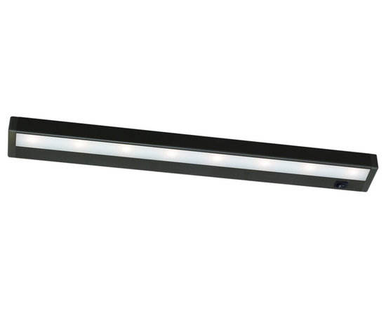 """WAC - WAC Bronze 24"""" Wide LED Under Cabinet Light Bar - Bring out the best in your decor with this versatile LED light bar from W.A.C. Perfect for cabinets curios and kitchen counters this fixture contains energy efficient LED bulbs with a life of up to 50000 hours. It is also thermally efficient allowing use with heat- and UV-sensitive artwork clothing and decor items. Bronze finish. Includes eight LEDs. Output of 501 lumens. Energy efficient. 24"""" wide. 1"""" high. 2 3/4"""" deep.  WAC LED under cabinet light.  Bronze finish.  Aluminum construction.  Acrylic lens.  Energy efficient design.  Interconnection accessories available.  Dimmable with low voltage dimmer to 10%.  Includes eight LEDs (12.7 watts total).  Light output 520 lumens.  Comparable to a 50 watt incandescent bulb.  2900K color temperature.  24"""" wide.  1"""" high.  2 3/4"""" deep.  1"""" inner connector and mounting hareware included."""