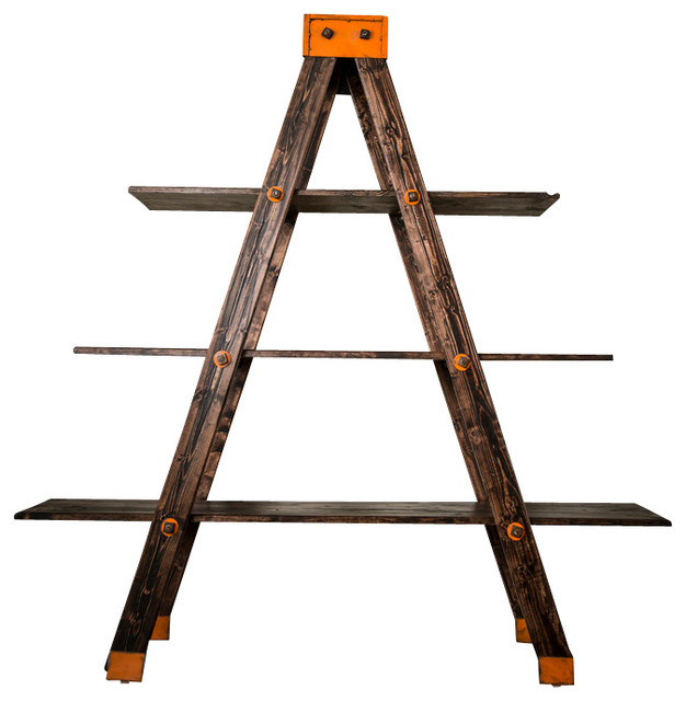 A-Frame Ladder Shelf - Industrial - Bookcases - by Anton Maka Designs