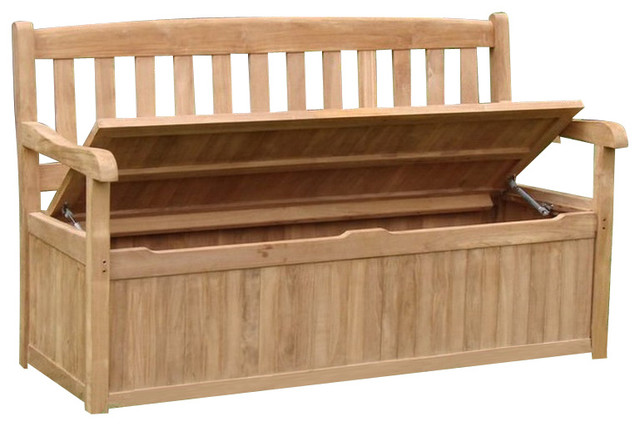 Teak Devon Storage Bench 5 Feet Contemporary Outdoor Benches By Teak Deals