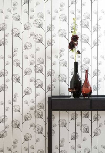 Ribbed (Black/Beige) Wallpaper by Ferm Living contemporary wallpaper