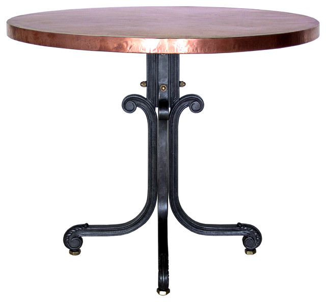 Bistro Table with Copper Top (Round) - eclectic - dining tables ...