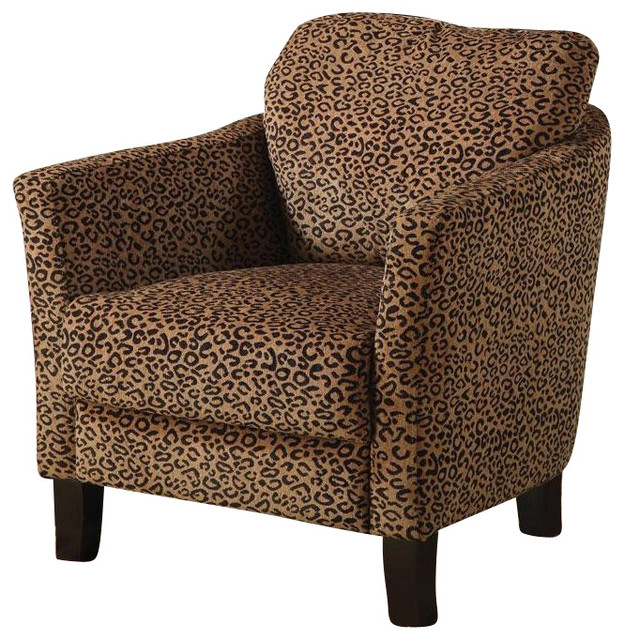 Coaster Club Chair In Cheetah Print Transitional Armchairs And Accent Chairs By Cymax