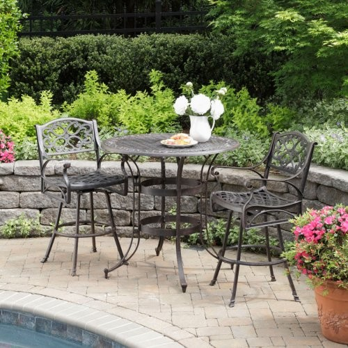 Home Styles Biscayne Bronze Patio Bistro Set - traditional - patio ...