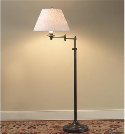 Designer Swing Arm Floor Lamp Base Only- No Shade - Shades of Light