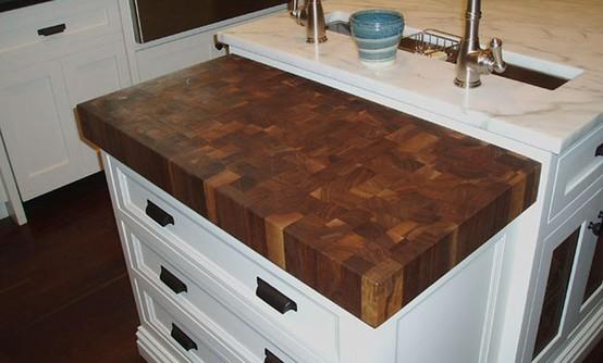 Walnut Butcherblock Countertop kitchen-countertops