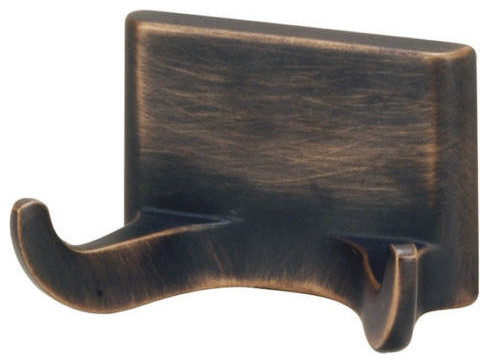 Sunset Series Bathroom Collection, Oil Rubbed Bronze, Double Robe Hook - Transitional - Robe ...