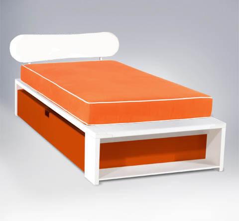 ... Trundle Twin Bed w/ Oval Headboard - Modern - Kids Beds - by 2Modern