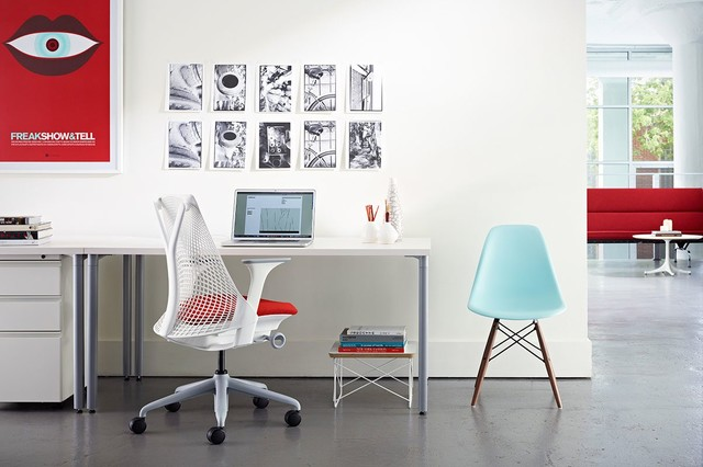 Bright and airy workspace modern-home-office