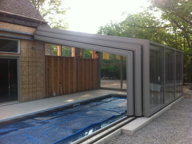 Retractable lean to pool enclosure other metro by covers in play Retractable swimming pool enclosures