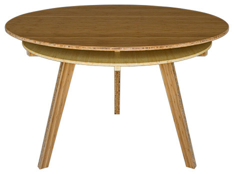 Third Round Table Amber Natural Bamboo 4 Person Modern Dining Tables By Brave Space Design