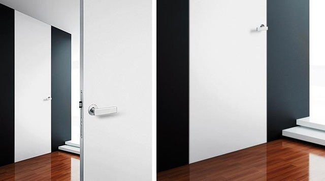 Floor-to-ceiling designer door without header - CT22 modern interior doors