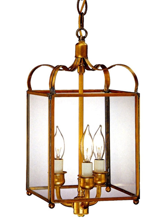 Lanternland - Adams Colonial Pendant Copper Hanging Light - The Adams Colonial Pendant Hanging Copper Lantern, shown in Antique Brass with Clear Glass, is hand made in America from high quality brass and copper. Often used indoors over a kitchen island, this pendant style copper lantern is equally at home on a front porch or in a dining room. Available in your choice of three standard sizes, seven fabulous brass and copper finishes and four glass options, this classic colonial copper lantern pairs well with traditional, plantation style, colonial and colonial revival style homes, lake homes and cabins. Designed to last for decades and guaranteed for life, the Adams Colonial Pendant Hanging Copper Lantern by Lanternland will never rust or corrode.