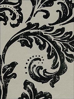 Kenneth James Leaf Scroll Wallpaper traditional wallpaper