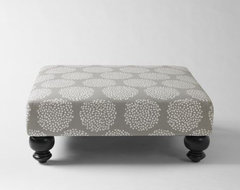 Essex Printed Ottoman, Platinum contemporary ottomans and cubes