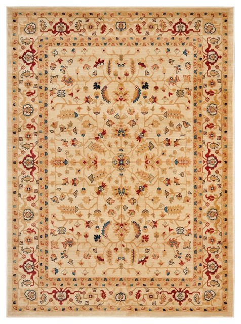 "Traditional Austin 4'x5'7"" Rectangle Creme-Creme Area Rug traditional-rugs"
