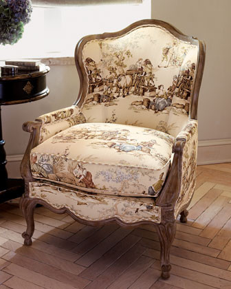 """Frontier Country"" Toile Chair traditional-accent-chairs"