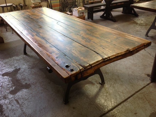 Salvaged Door Tables Traditional Dining Tables Providence By Lorimer Workshop