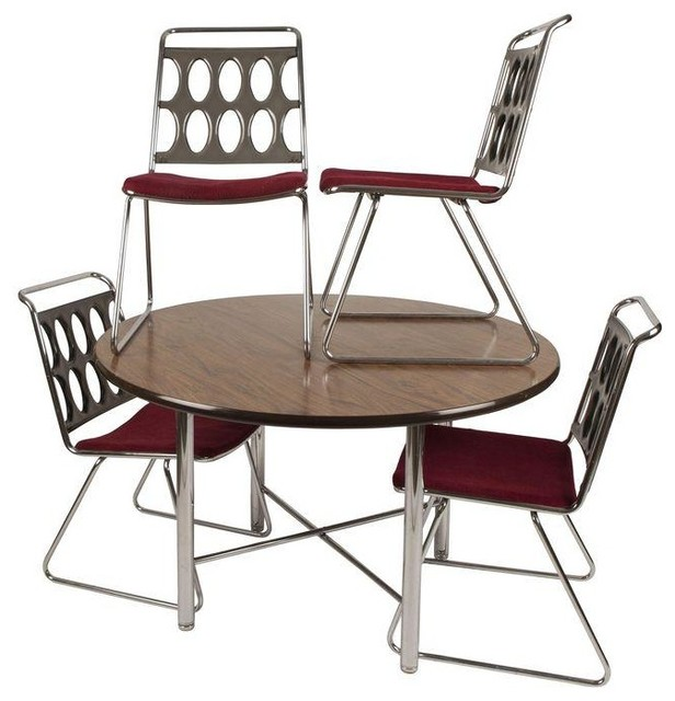 Chromcraft Dinettes: Used Chromcraft Smoked Lucite And Chrome Dinette