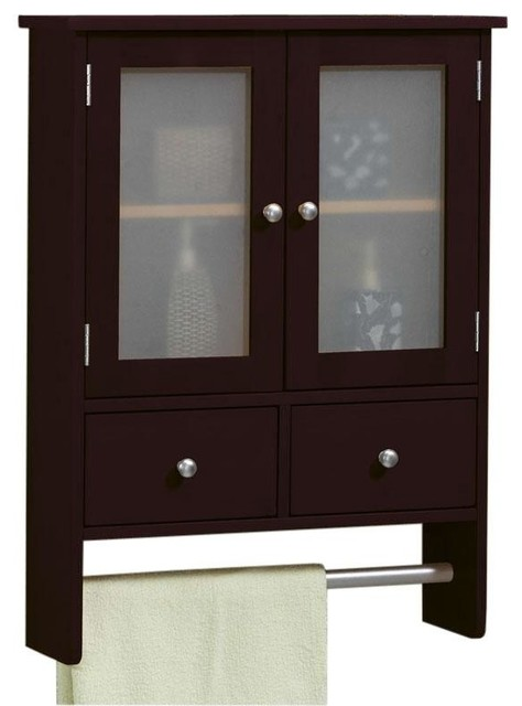 Amanda Wall Cabinet with Towel Bar - Modern - Wine And Bar Cabinets