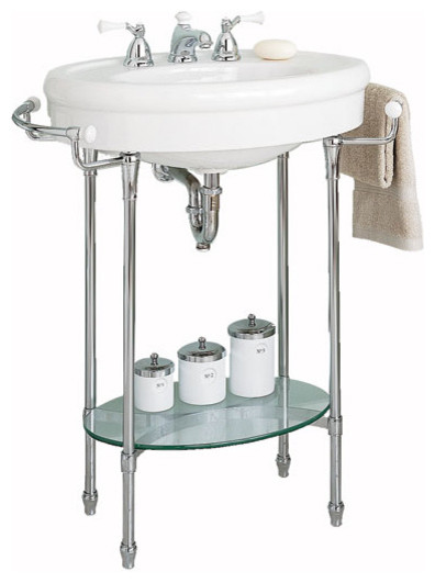 "American Standard ""Standard"" Console sink with Chrome Legs traditional bathroom sinks"