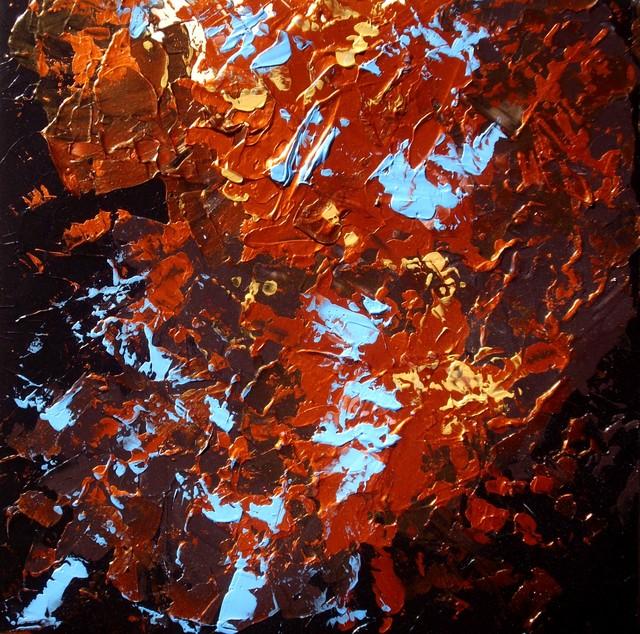 """Modern Abstract Original Paintings (Art Set) """"UNDER THE AUTUMN SKY"""" modern-artwork"""