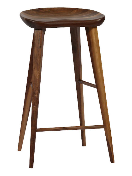 Ion Design - Ion Design Taburet Counter Stool - A solid wood stool with sleek tapered legs and contoured seat for comfort.
