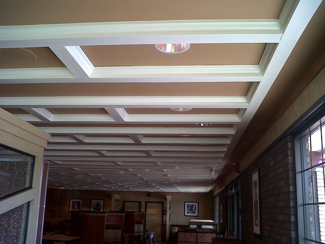 Commercial Tray Ceiling Install