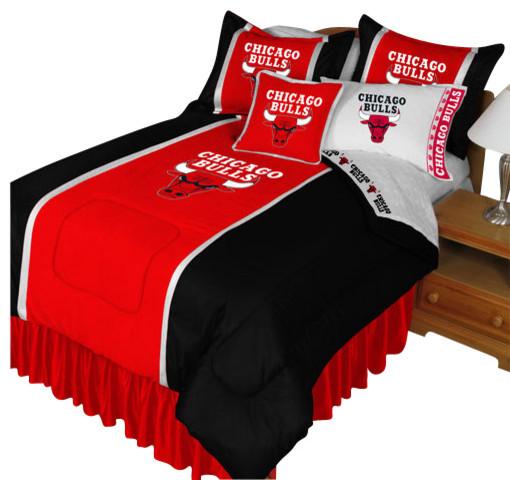 Basketball Rug Target: NBA Chicago Bulls Comforter Pillowcase Basketball Bedding