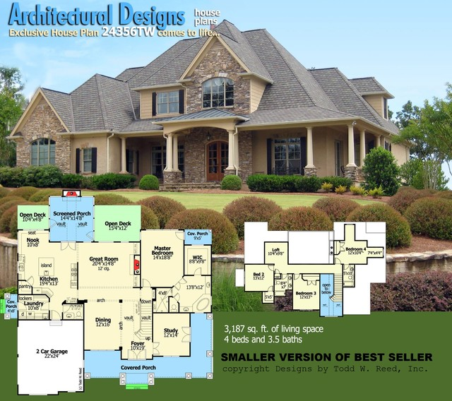 Above beyond plan the american dream street of dreams for American dream house plans