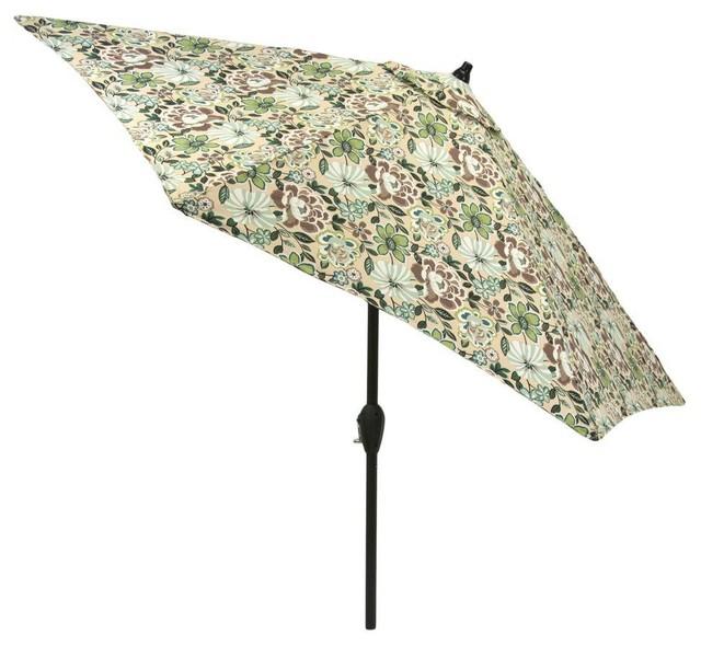Hampton Bay Patio Umbrellas 9 Ft Aluminum Patio Market Umbrella In Daphne Contemporary Outdoor