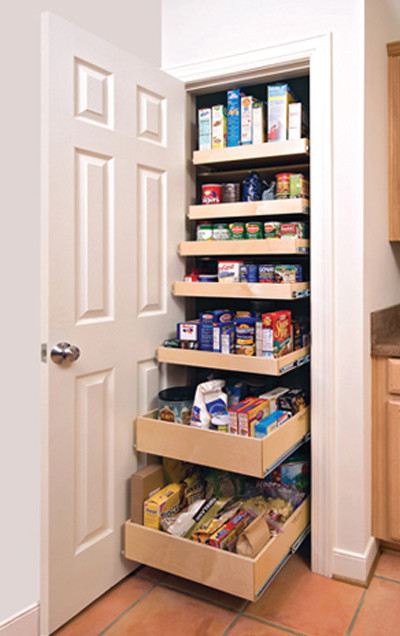 Shelfgenie pantry pull out shelves other metro by - Roll out shelving for pantry ...