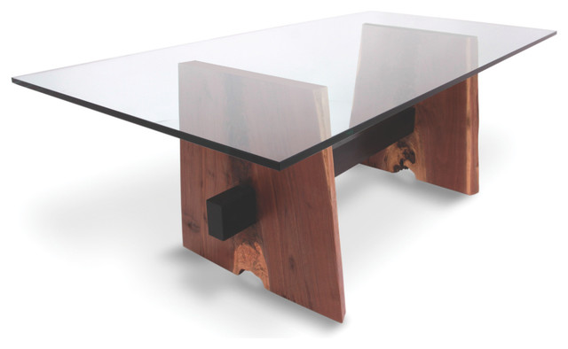 walnut base dining table glass top contemporary dining tables