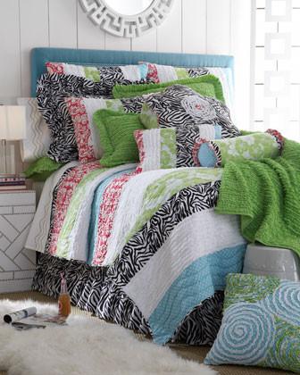 Aubrey Bed Linens Pieced Pillow, 20Sq. traditional-decorative-pillows