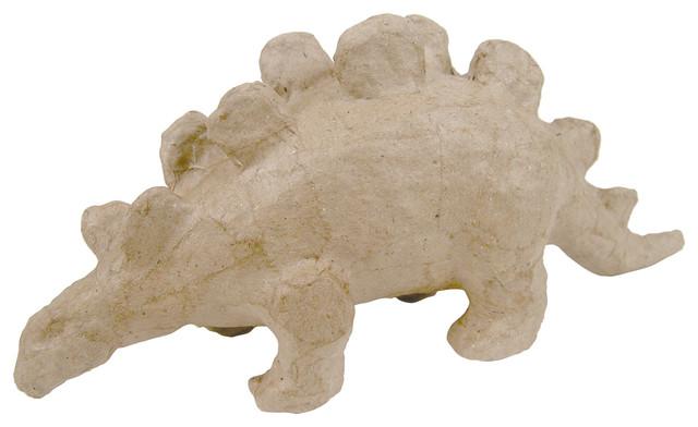 Paper mache figurine stegosaurus rustic decorative for Paper mache objects