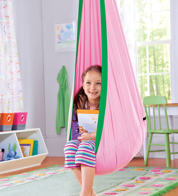 Hugglepod, Childrens Canvas Hanging Chair modern kids chairs
