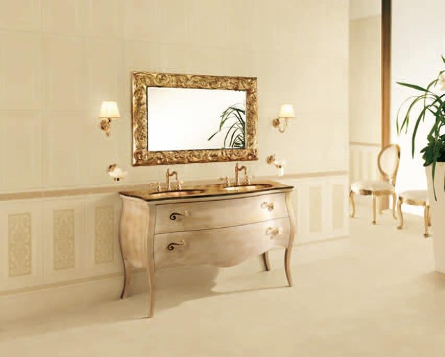 Valentino Boiserie traditional bathroom tile